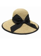 BEACH-SPECIALS-FINE-RAFFIA-LAMPSHADE-WITH-BOW-womens-accessories-hats-01